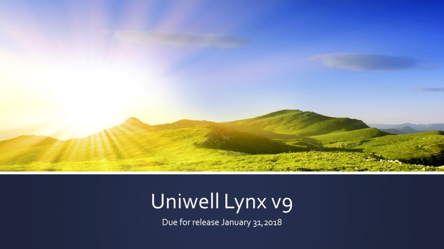 Lynx Software Uniwell Lynx Version 9 Features