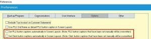 Uniwell Lynx v9 Preferences Screen